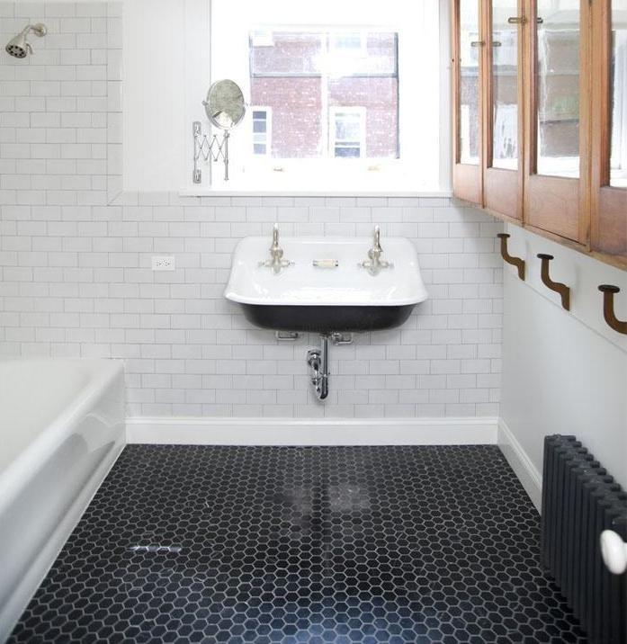 black hexagon tiles bathroom. Tile Floors In Bathroom